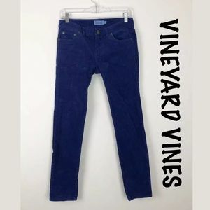 Vineyard Vines Blue Corduroy Skinny Pants Sz 2